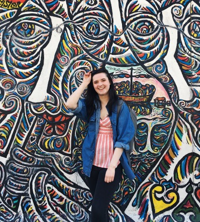 Posing at the East Side Gallery